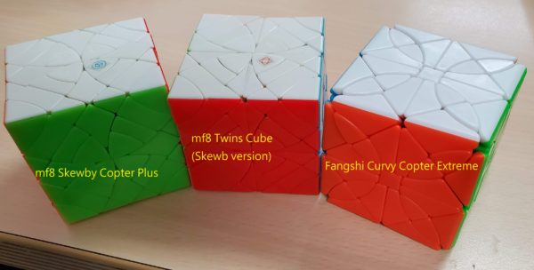 Skewby Copter, Twins Cube, Curvy Copter